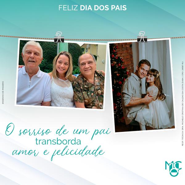 O sorriso de um pai transborda amor e felicidade